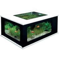 AQUARIUM TABLE 192L - BLANC/NOIR