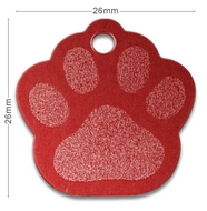 Medaille chien alu Patte Rouge