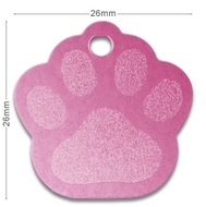 Medaille chien alu Patte Rose