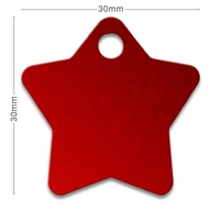 Medaille chien alu Etoile Rouge