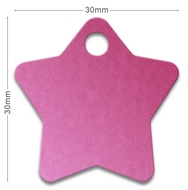 Medaille chien alu Etoile Rose